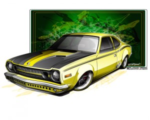 AMC Hornet concept sketch by Problem Child Kustoms (PCK)