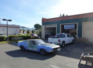 1974 AMC road race Javelin AMX at Maaco ready for paint