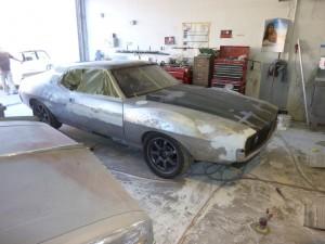 1974 AMC road race Javelin AMX at paint shop