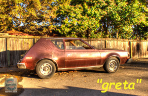Greta the 1975 AMC Gremlin