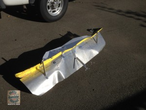 damaged front spoiler